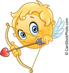 emoticon, cupid