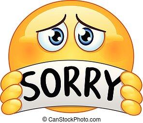 emoticon, désolé, signe
