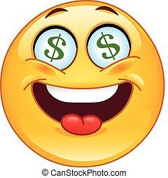 emoticon, dólar