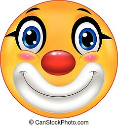 emoticon, dessin animé, clown