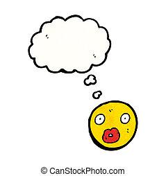 emoticon, dessin animé, figure