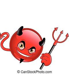 emoticon, diavolo