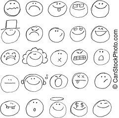 emoticon, doodles
