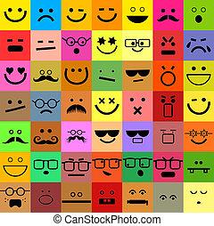 emoticon, ensemble, avatar