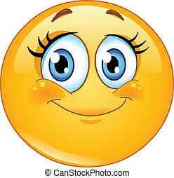 emoticon, eyelashes