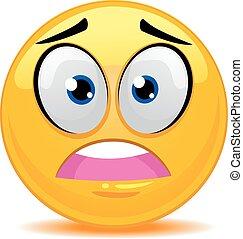 emoticon, fâché, visage smiley