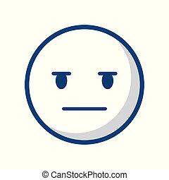 emoticon, faccia, icona