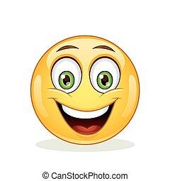emoticon, face., feliz