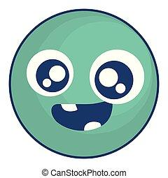 emoticon face with crazy teeth