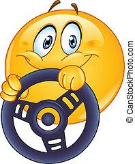 emoticon, fahren