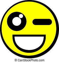 emoticon, felice