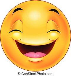 emoticon, feliz, cara sonriente