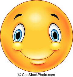 emoticon, feliz, smiley enfrentam