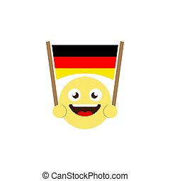 emoticon flag of germany vector icon isolated on white background