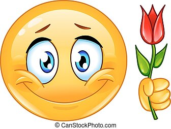 emoticon, flor