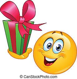 emoticon, geschenk