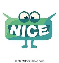 emoticon, gezegde, turkoois, woord, schattig, karakter, mond, kwak, aardig, instead, boodschap, teeth, emoji