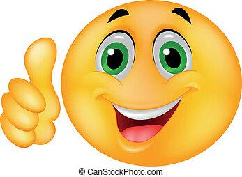 emoticon, glücklich, smiley gesicht