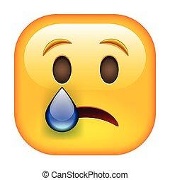 emoticon, grät