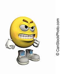 emoticon, guy., fâché