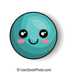 emoticon happy blue round isolated graphic