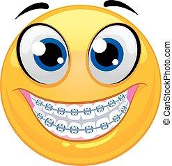 emoticon, het tonen, smiley, teeth
