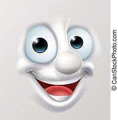 emoticon, heureux, dessin animé, figure