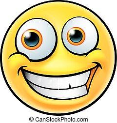 emoticon, heureux, emoji