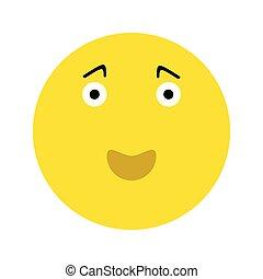 emoticon, heureux, smiley, icône, figure