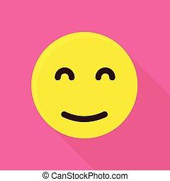 emoticon, icône, style, dormir, plat