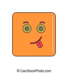 Emoticon icon, cartoon style
