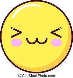 Emoticon, icon, emoji isolated on white background. vector illustration