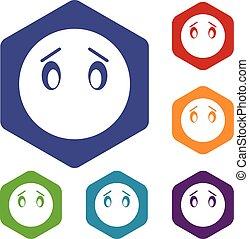 Emoticon icons set