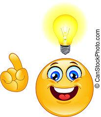 emoticon, idea