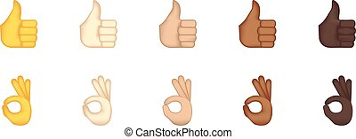 emoticon, jogo, ok, cima, polegares, gesto
