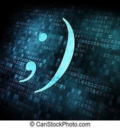 emoticon, képben látható, digitális, ellenző