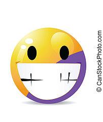 emoticon, karakter, gele