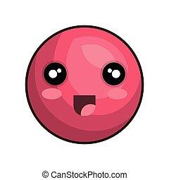 emoticon kawaii style icon