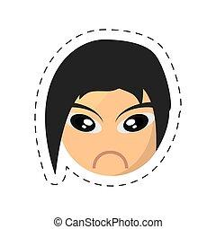 emoticon, komisk, image, sørgelige
