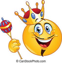 emoticon, koning