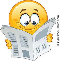 emoticon, krant
