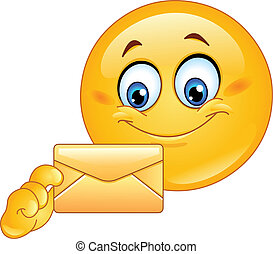 emoticon, kuvert