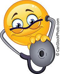 emoticon, läkare