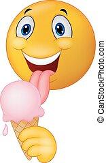 emoticon, licki, smiley, dessin animé, heureux