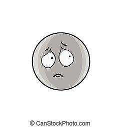 emoticon, ludzie, twarz, smutne wyrażenie, rysunek, emoji