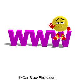 emoticon, lustiges, www, schatten, sitzen, oberseite, ...