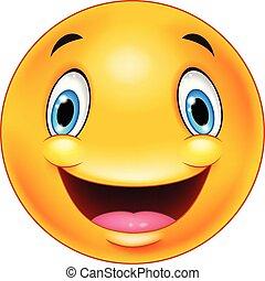 emoticon, lycklig, smiley vetter
