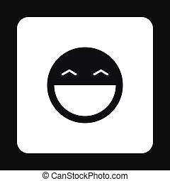 emoticon, mód, egyszerű, smiley, ikon, boldog