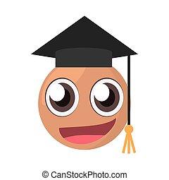 emoticon male graduate expression
