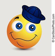 emoticon, marin, smiley, emoji